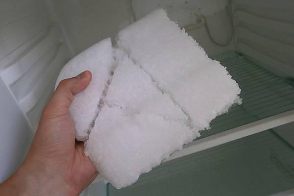 Снег в холодильнике