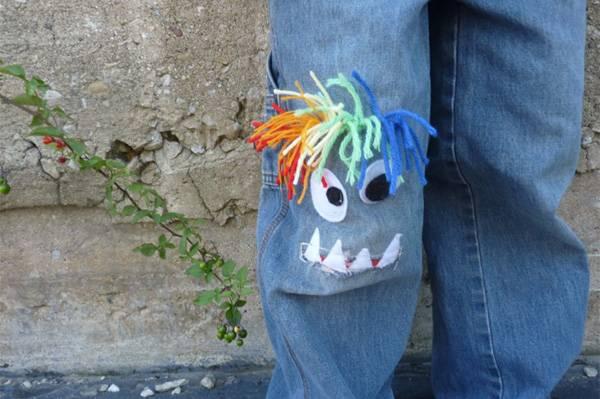 Как залатать джинсы ребенку