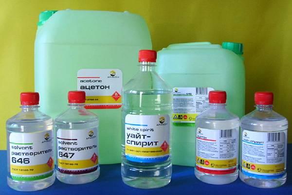 Бутыльки уайт спирита