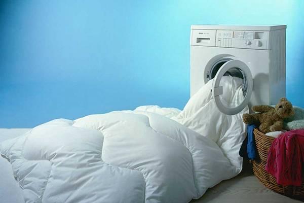 одеяло в машинке-автомат