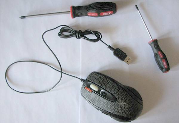 чистить мышку